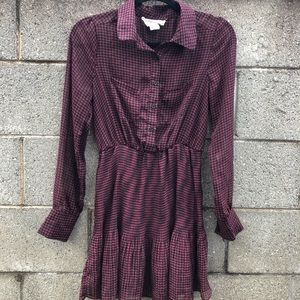 Anthropologie Coincidence & Chance Dark Red Dress
